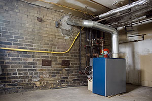 Basement gas furnace